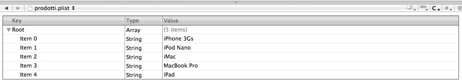 IPAD 001 - File prodotti.plist