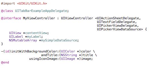 Objective-C-UITabBarController-UITextField-UIPickerView-UIDatePicker-11
