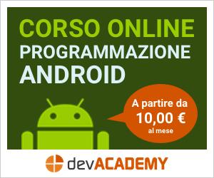 Corso online di programmazione android e java