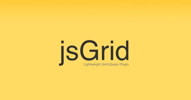 jsGrid, Lightweight grid jQuery plugin